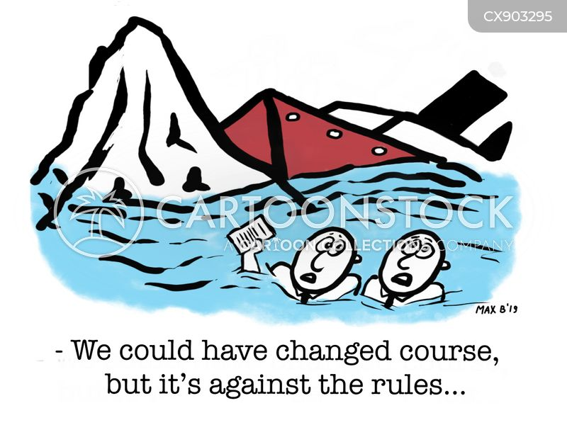changing course cartoon