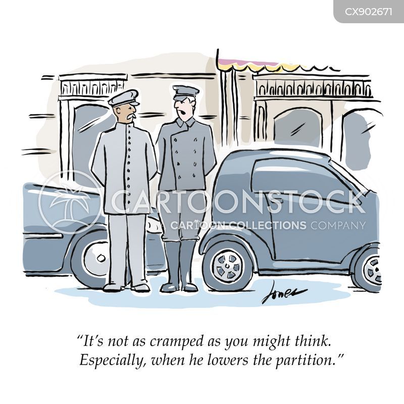 personal driver cartoon