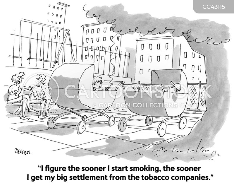 smoker cartoon