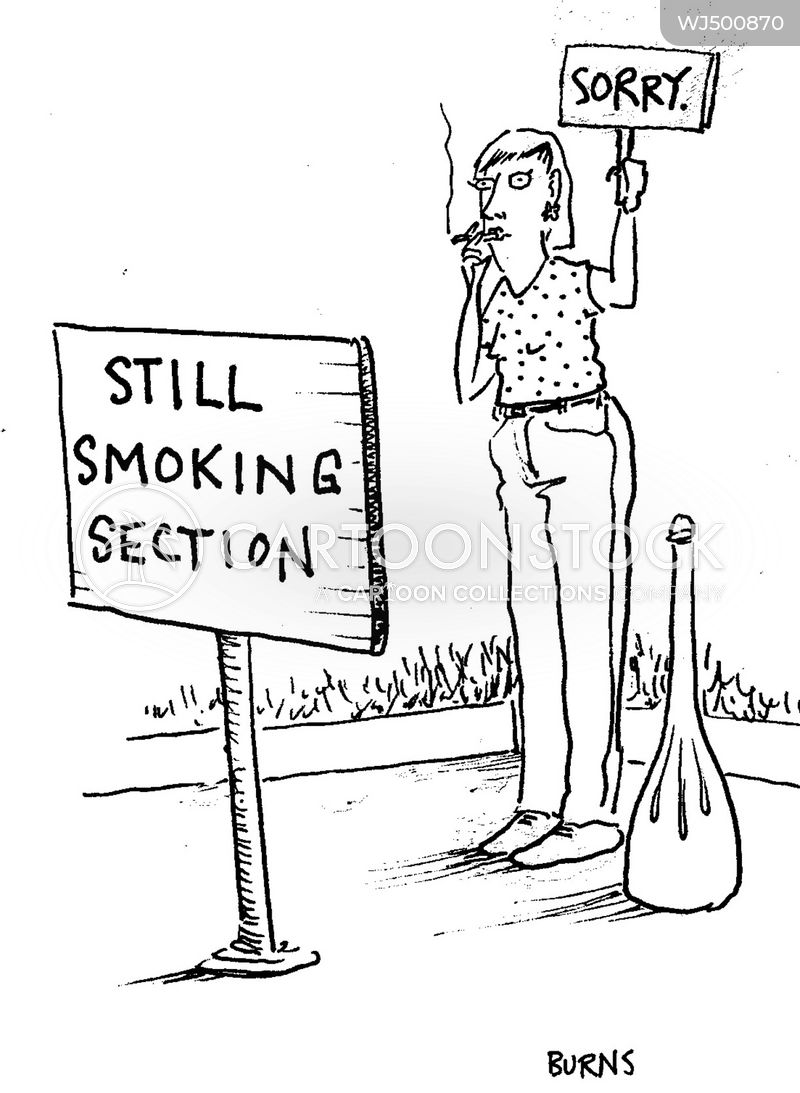 smoking section cartoon