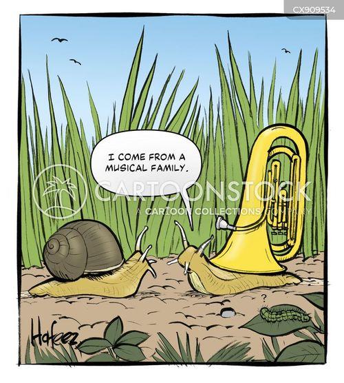 wind instrument cartoon