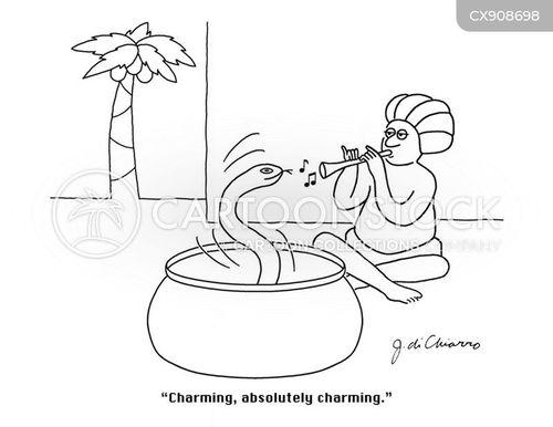 snake charmers cartoon