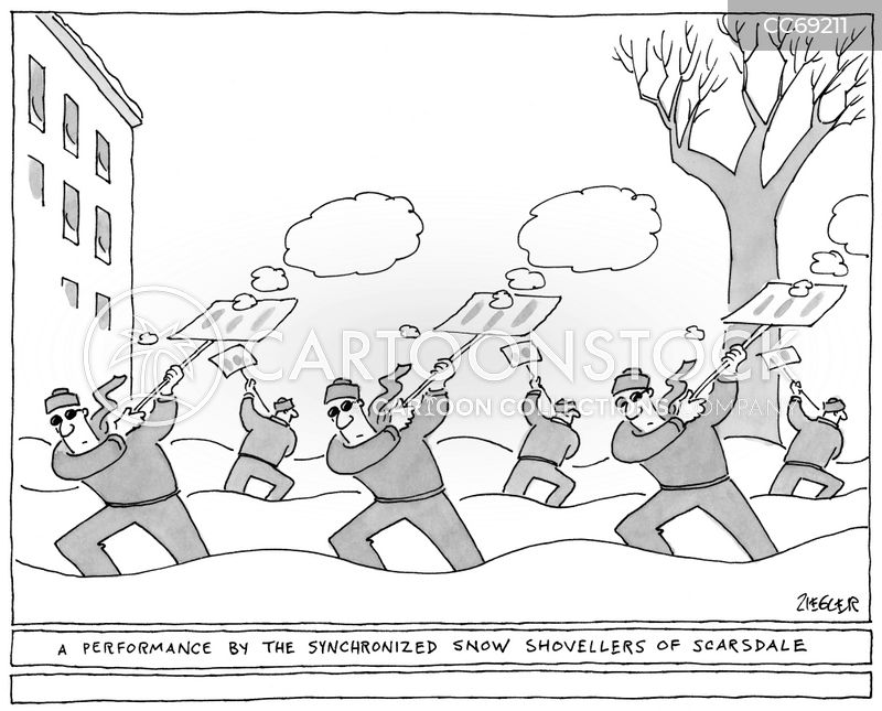 snow fall cartoon