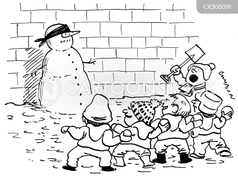 snowballs cartoon