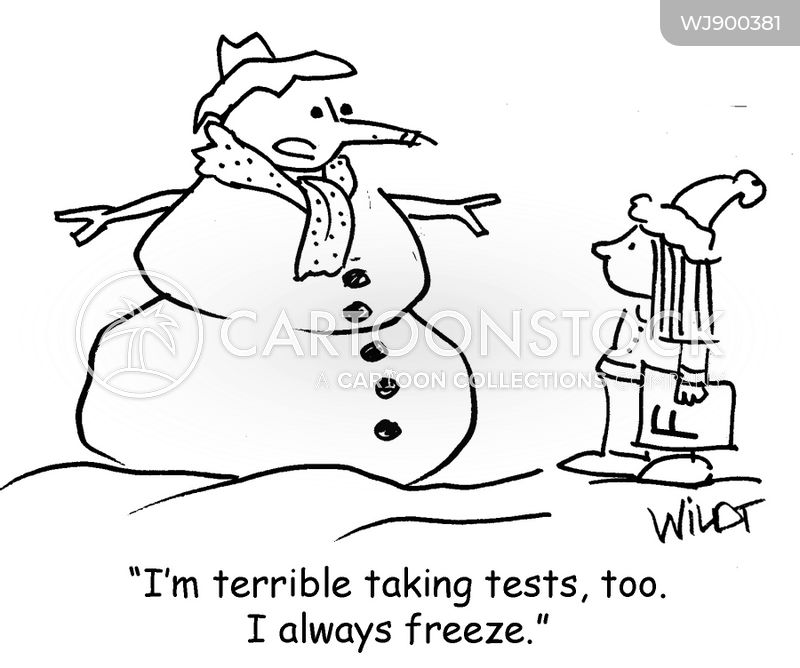 school tests cartoon
