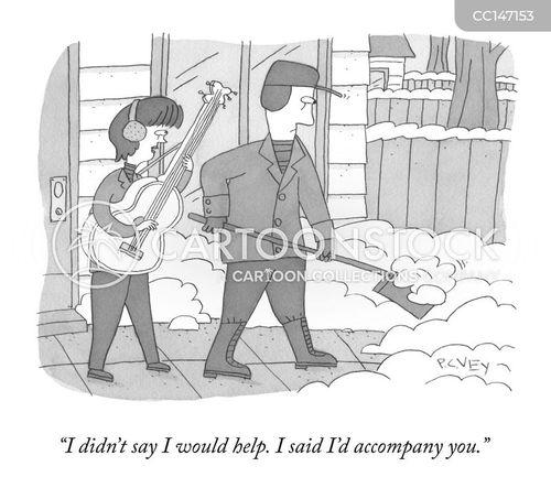 shovelling cartoon