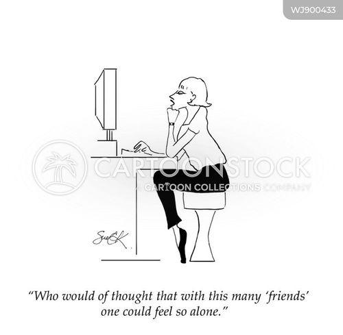 social media followers cartoon