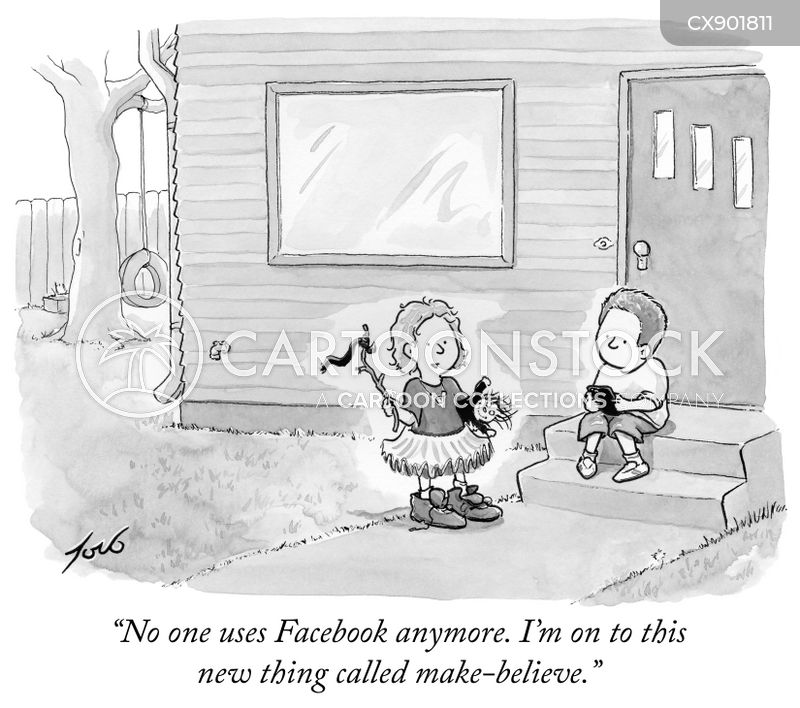 social medias cartoon