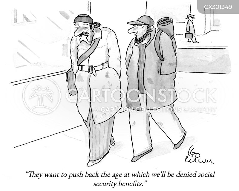 social security benefits cartoon