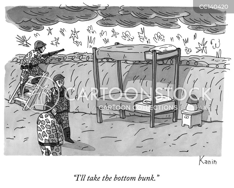 bunk bed cartoon