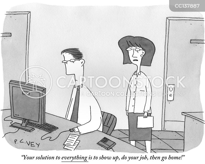 work routine cartoon