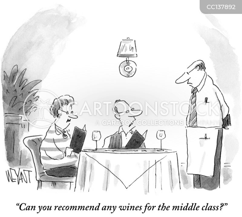 wine waiters cartoon