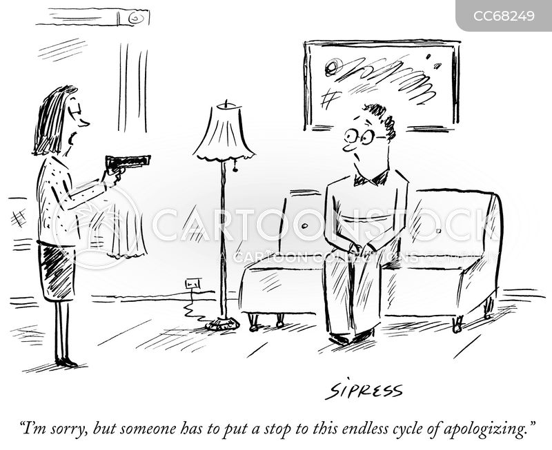 apologising cartoon