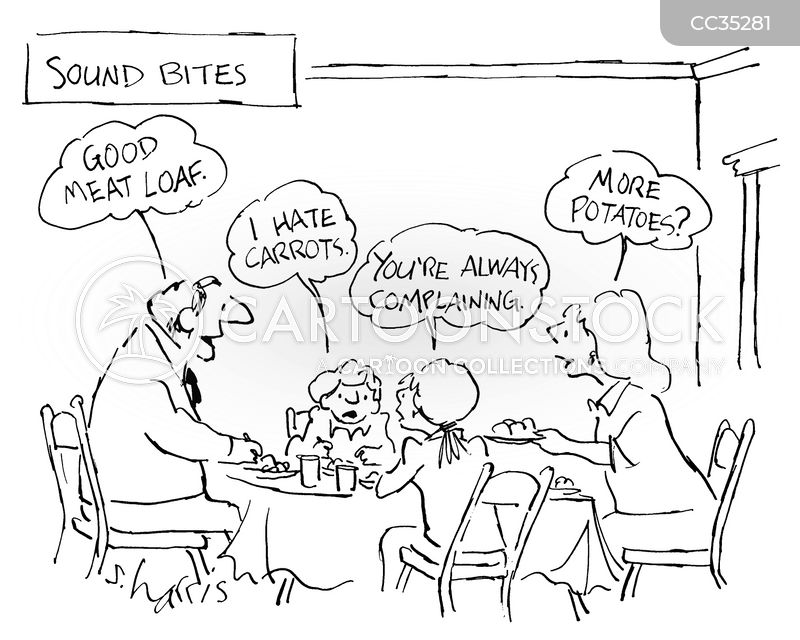 family dinner cartoon