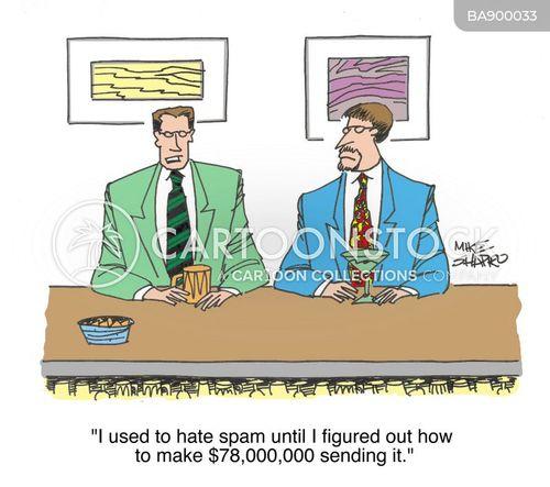spamming cartoon