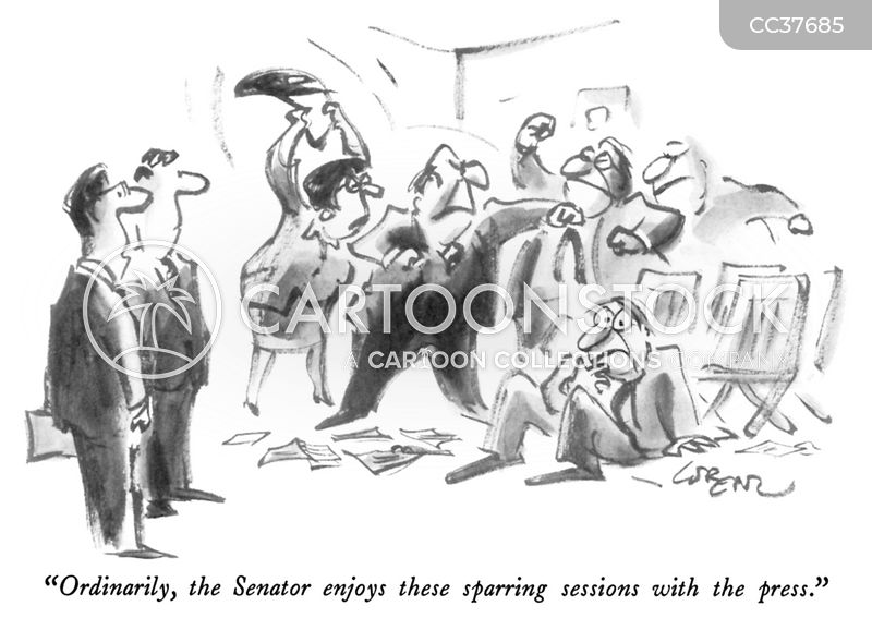 senator cartoon