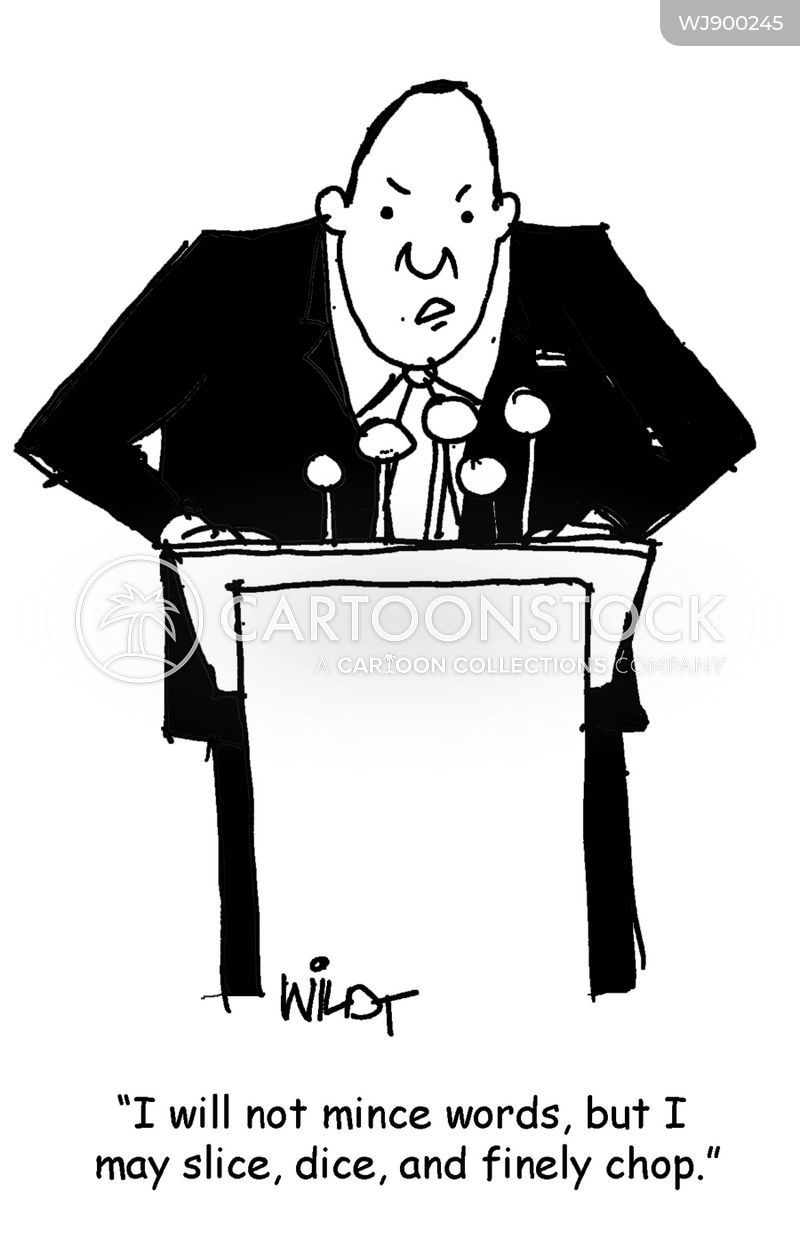 political speech cartoon