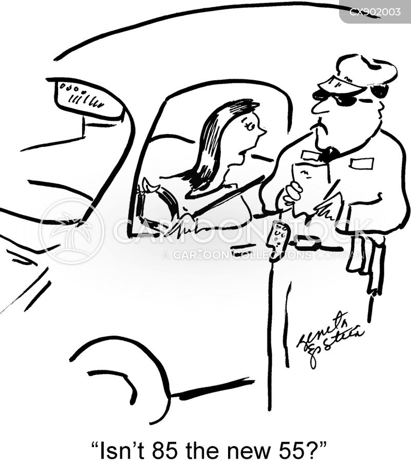 Speeding Ticket Cartoons and Comics - funny pictures from
