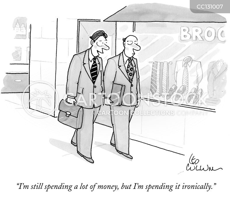 spendthrift cartoon