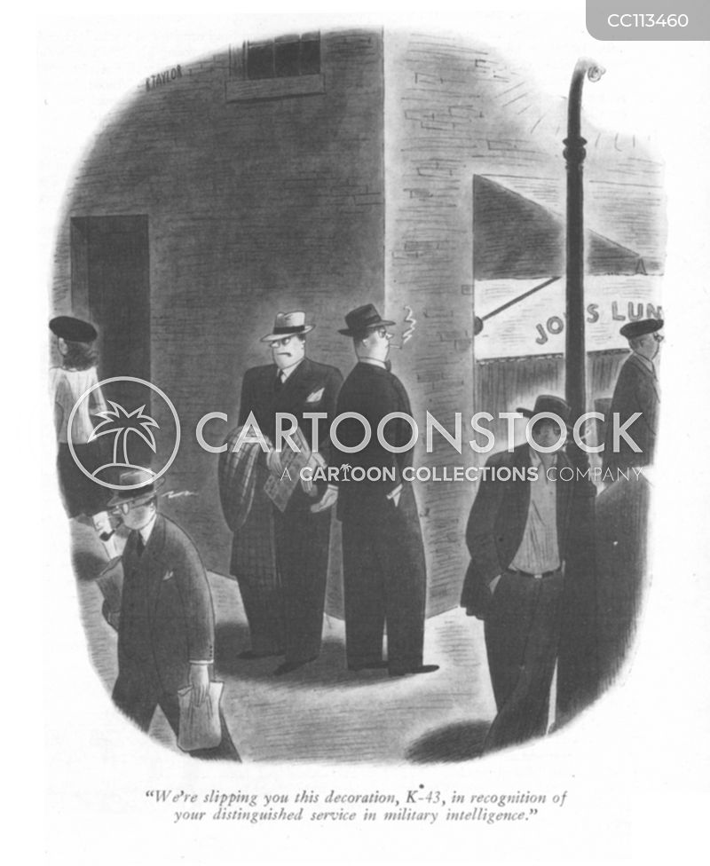 german spy cartoon
