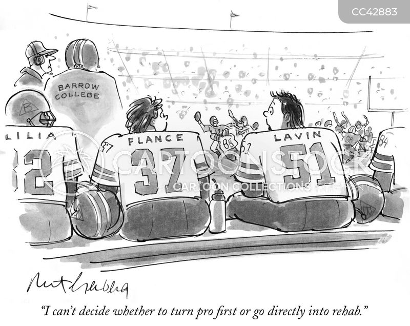 Pro Football cartoon