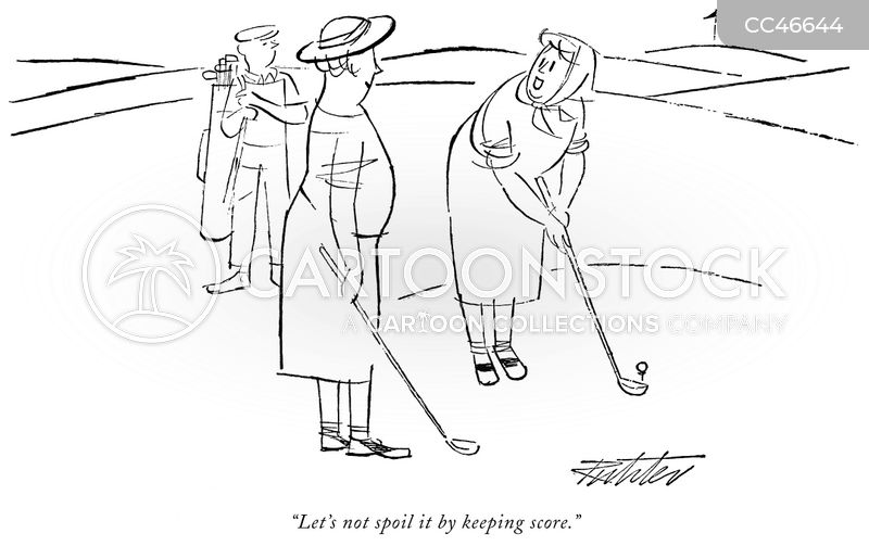 golf course cartoon