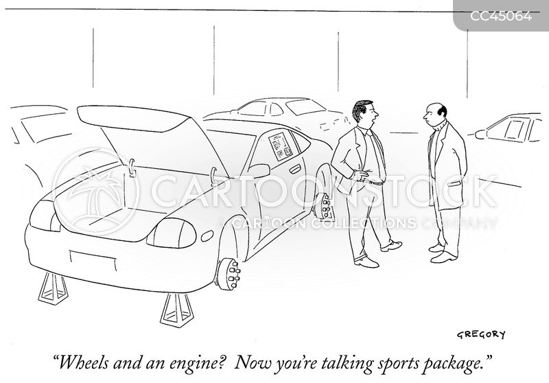 sport packages cartoon