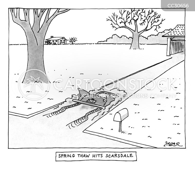 snow shovels cartoon