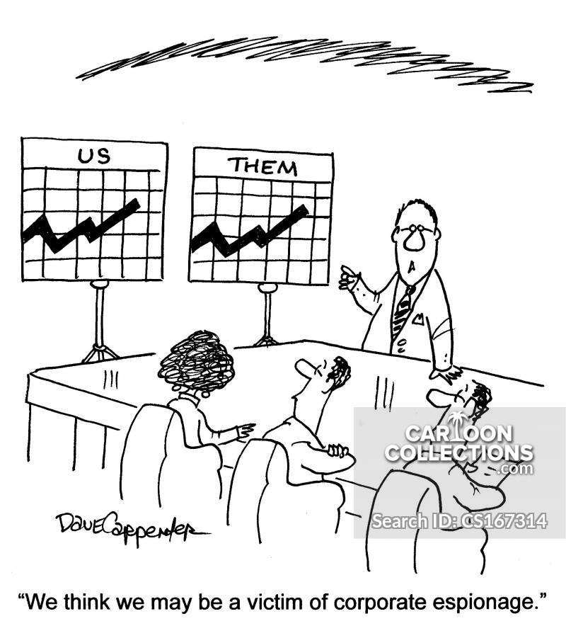 competitve business cartoon