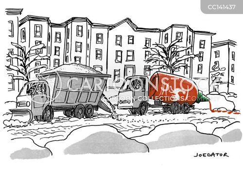 snow removal cartoon