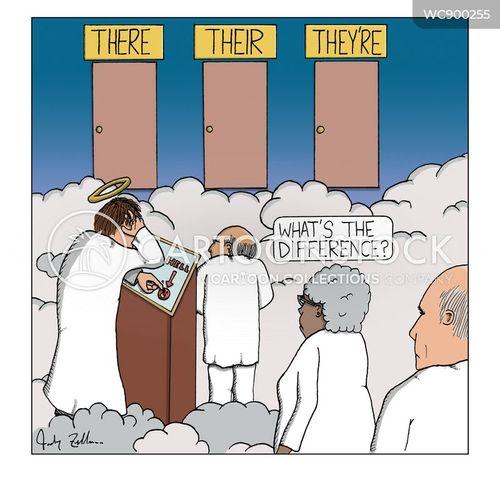 homophones cartoon