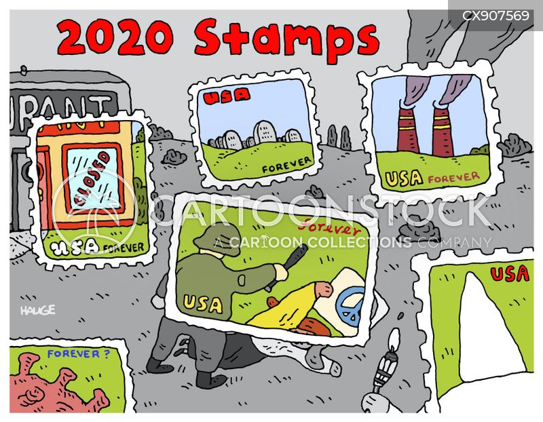stamps cartoon
