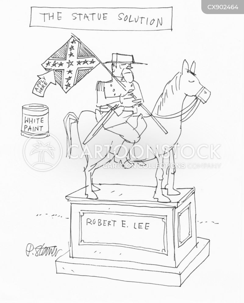 robert e lee momument cartoon