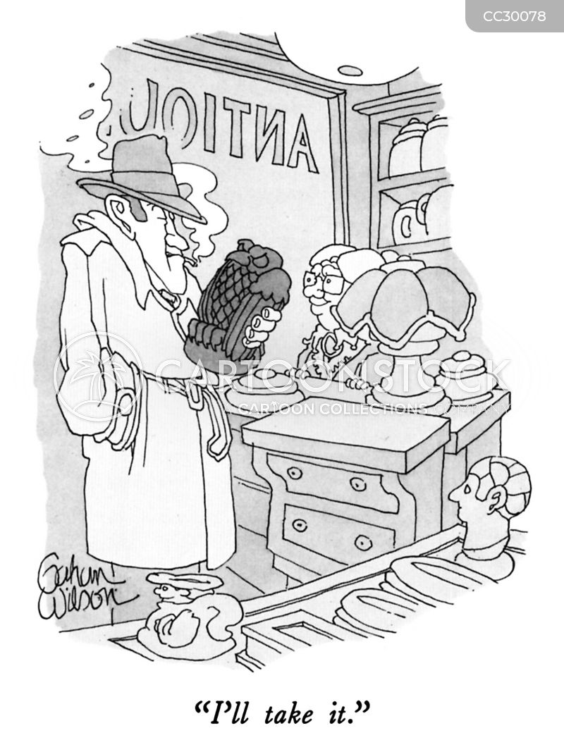 antique hunter cartoon