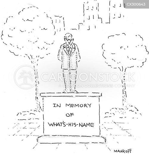 in memory cartoon