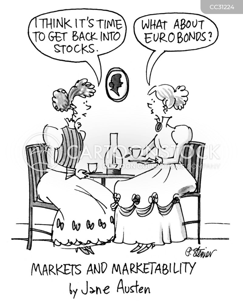 playing the market cartoon