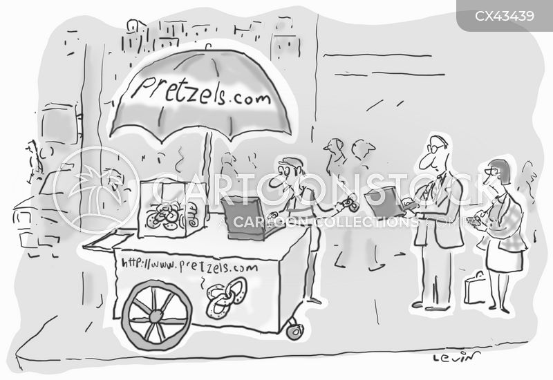 street food vendors cartoon