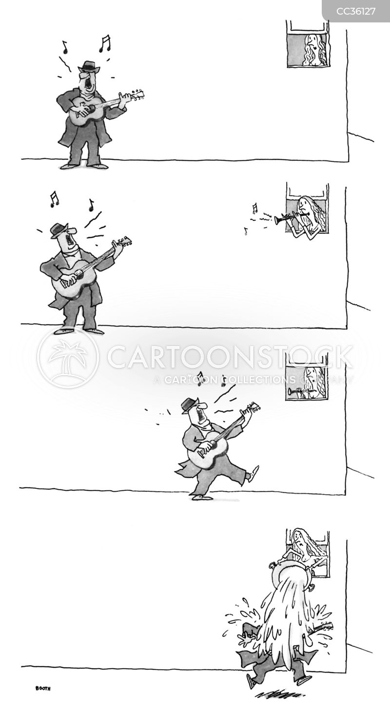 busking cartoon