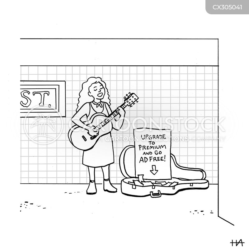 women musician cartoon