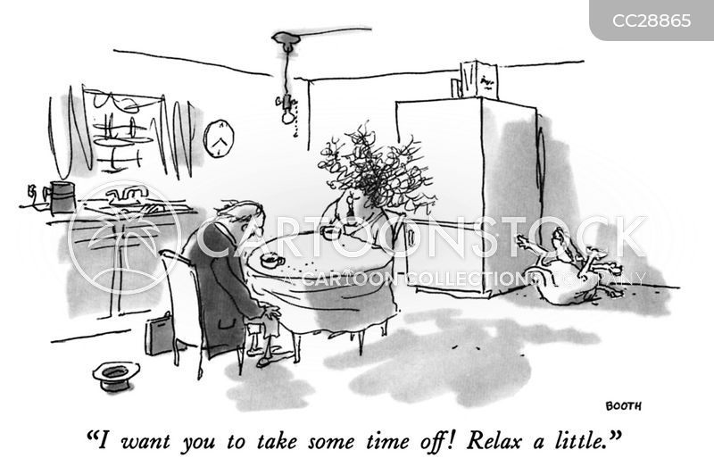 calming down cartoon