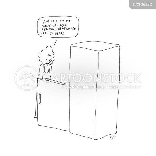 refrigerator cartoon