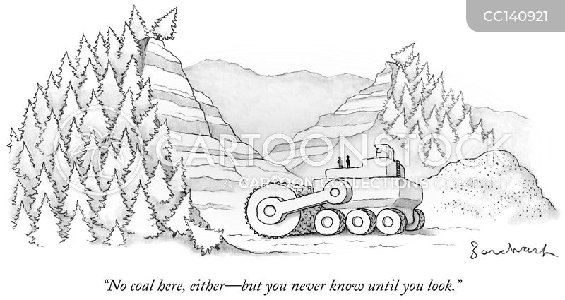 mining cartoon