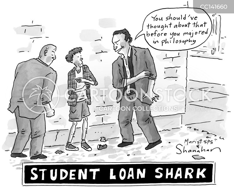 loan collections cartoon