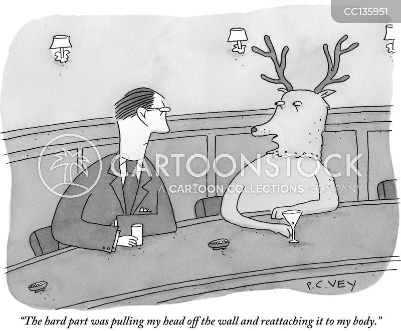 mounted cartoon