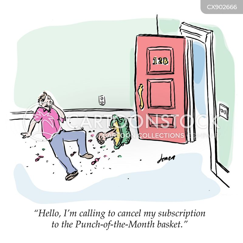 punch in the face cartoon