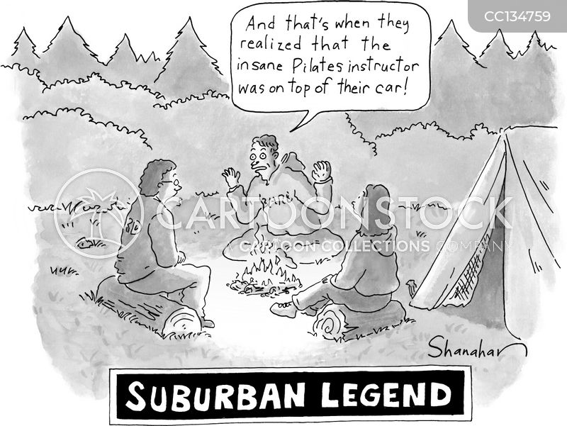 camp fire cartoon
