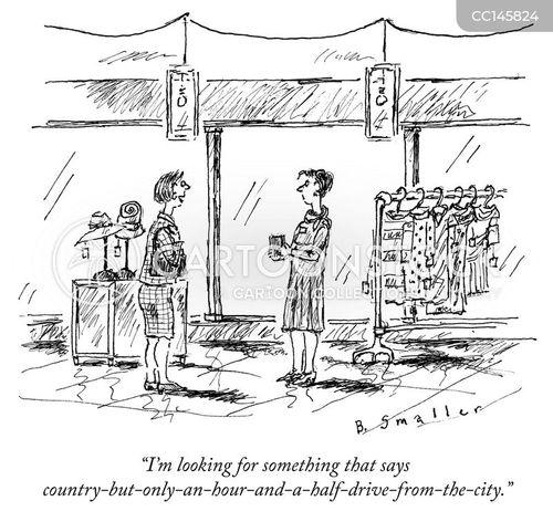 suburb cartoon