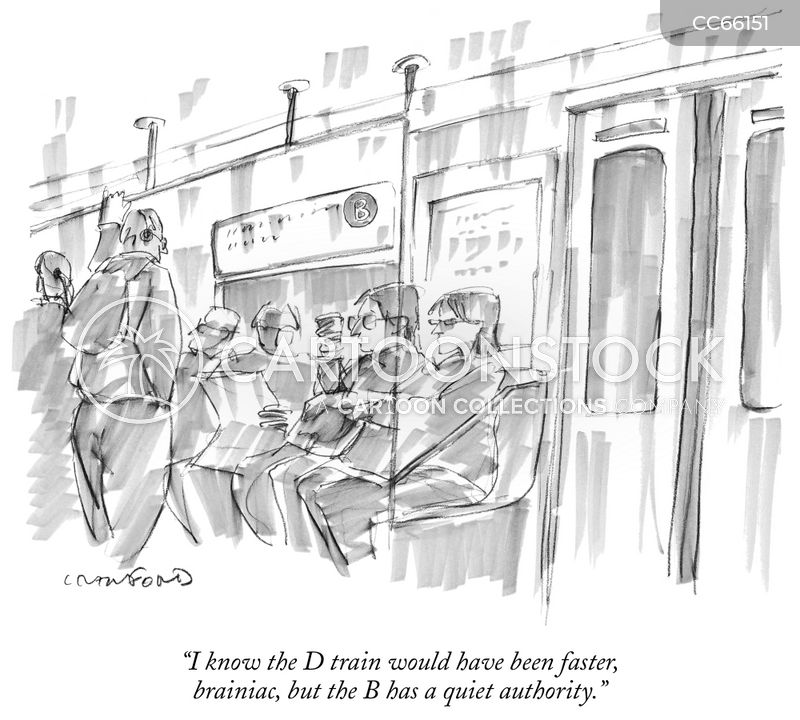 public transports cartoon