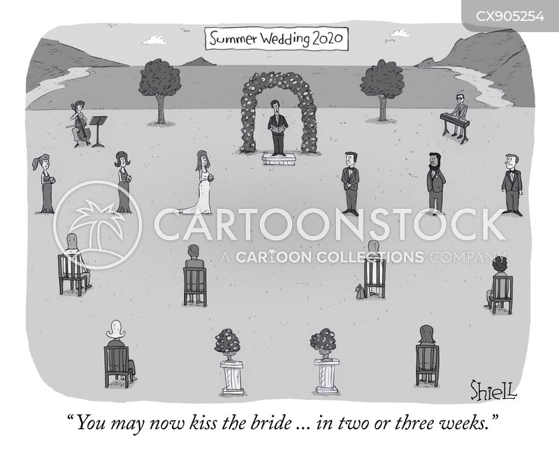 summer wedding cartoon