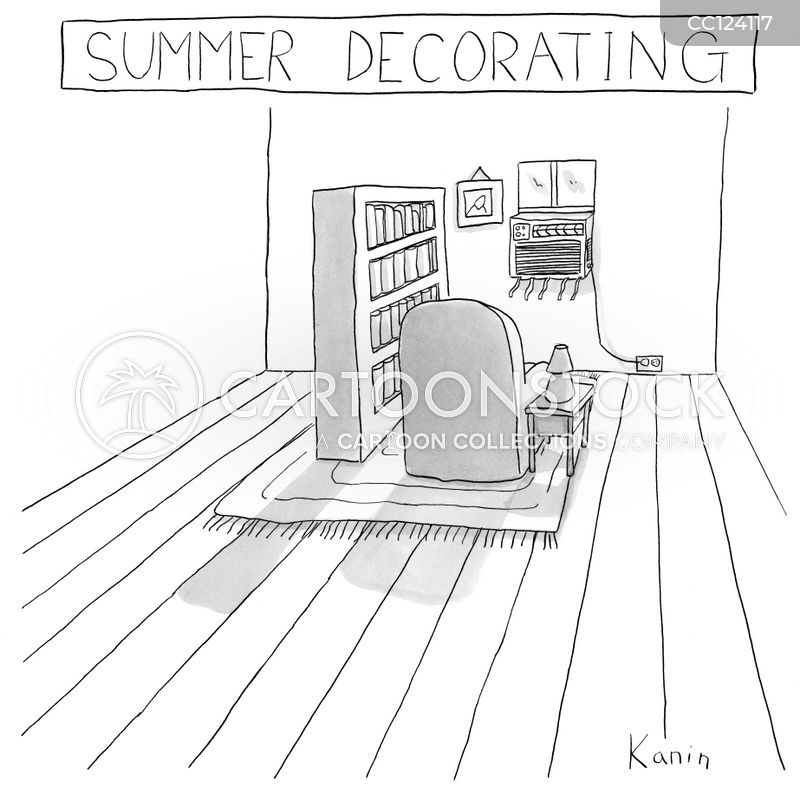 hot summer cartoon